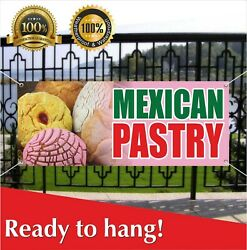 Mexican Pastry Banner Vinyl / Mesh Banner Sign Bakery Cake Cookies Shop