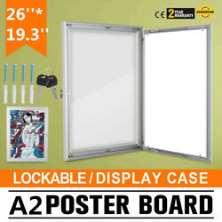 A2 Lockable Poster Frame Menu Outdoor Display Case Signs Pubs Silver NEWEST