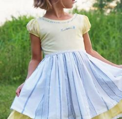 Girls WDW Well Dressed Wolf Yellow Learn dress Size 6 years EUC