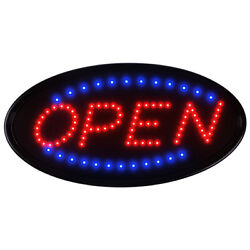 Boshen 19andtimes10 Neon Animated Led Business Sign Open Light Bar Store Shop Display