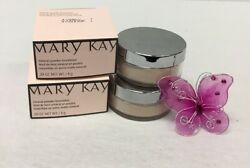 Mary Kay Lot Of 2 Ivory Mineral Powder Foundation .258 NIB OZ A76DS
