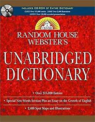 Webster's Unabridged Dictionary and Set by Random House-ExLibrary
