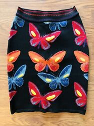 Azzedine Alaia Iconic Sexy Butterfly Vintage Skirt Size Xs Highly Collectible