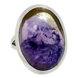 Charoite 925 Sterling Silver Ring Jewelry S.7 29654r