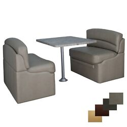 Recpro Rv Dinette Seating Set 2 Dining Booths With Table And Surface Mount Legs