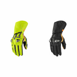 2019 Icon Hypersport Gp Full Length Leather Motorcycle Gloves - Pick Size/color