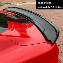 Gloss Black Trunk Lip Spoiler Wing Gt350 Style Fit For Ford Mustang 2015-2020