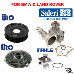 Water Pump Kit,cooling Fan Clutch,thermostat,water Pump Pulley 4pcs For Bmw
