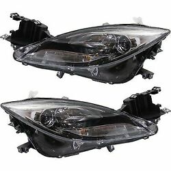 Headlight Set For 2012-2013 Mazda 6 Driver and Passenger Side w bulb