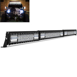 56inch 700w Led Light Bar Flood Spot Roof Driving Truck Boat Suv 4wd 52