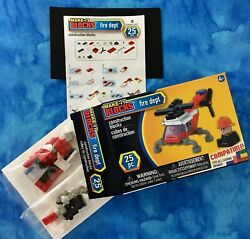 Make-it Blocks, Fire Dept Helicopter 25 Pc. Fits All Leading Brands Age 6+, Nib