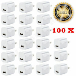 Lot White 1a Usb Power Adapter Ac Home Wall Charger Us Plug For Iphone 7 8 X 11