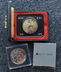 Lot Of 2 Canadian Mint Coins 1873 1973 Rcmp Centennial Celebration Canada 1993