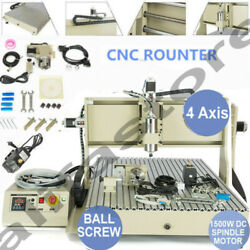 Usb 1.5kw Vfd 4 Axis 6090 Router Cnc Engraver Engraving Machine Milling Carving