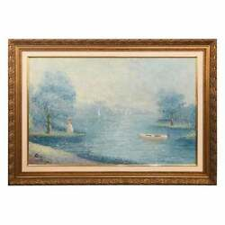Signed By Artist Impressionist Oil On Canvas Painting Gilt Framed