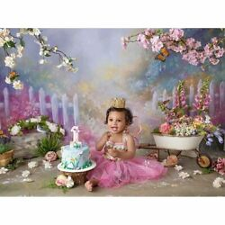 Backdrops Photos Flowers Vinyl Spring Bokeh Photographic Background Baby Shower