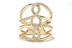 Gabriel And Co. 14k Yellow Gold Diamond Fashion Ring With Vertical Infinity Design