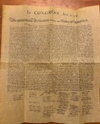 Declaration Of Independence Reproduction Copper Parchment 8.5x11 Print