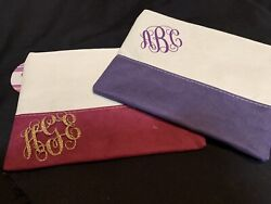 Monogram Personalized Cosmetic Bag Light Pink Or Black $9.00