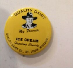 Quality Dairy Co. Hopalong Cassidy 50's/60's 1.5 Vintage Adv. Pin-back Buttons