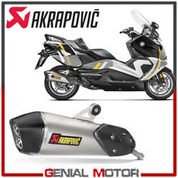 Exhaust Titanium Approved Muffler Akrapovic For Bmw C650 Gt 2016 2020