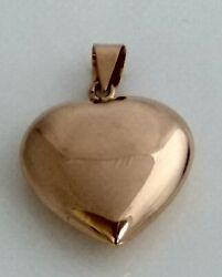 Pendant Heart Yellow Gold 19,2kt Double Side Without Any Drawing
