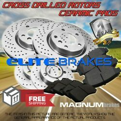 F+r Drilled Rotors And Ceramic Pads For 2013-2014 Ford F-350 Super Duty Rwd Drw