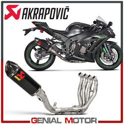 Full System Exhaust Carbon Akrapovic Racing Line Kawasaki Zx-10 R 2016 2018