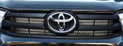 Toyota Hilux An120 / An130 - Upper Grill Set - Silver Finish 2015 -