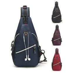 Men Women Chest Cycle Sling Bag Crossbody Shoulder Daily Travel Backpack Purse $13.99