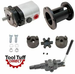 28 Gpm 2-stage Hydraulic Log Splitter Pump, Mount Coupler And A7 Detent Valve Kit