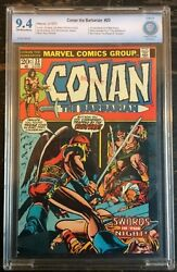 Conan The Barbarian 23 1973 Cbcs 9.4 1st Appearance Of Red Sonjia Cgc