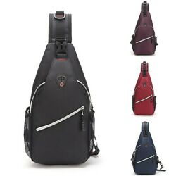 Unisex Chest Shoulder Sling Bag Cross Body Daily Cycle Travel Backpack Satchel $14.99
