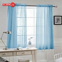 NICETOWN Privacy Semi Sheer Curtain - Rod Pocket Design Thick and Soft Sheer Win