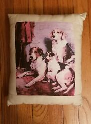Jack Russell Parsons Terrier Foxhound Dog pillow Golden Horn Creations 1 of kind