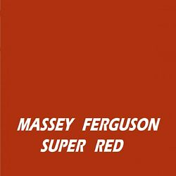 Massey Ferguson Super Red Ral3330 Agricultural Tractor Enamel Gloss Paint