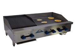 Comstock-castle Fhp48-30-1.5rb 48 Countertop Gas Griddle / Charbroiler