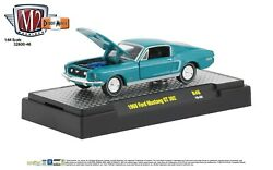 164 M2 Machines Detroit Muscle R46 = Turquoise 1968 Ford Mustang Gt 302 Nib