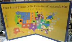 First State Quarters Of The United States Collectorand039s Map 1999 - 2008