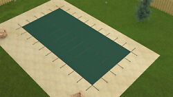 12'x24' Inground Rectangle Swimming Pool Winter Safety Cover Green Mesh 12 Year