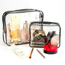Toiletry Bags 3 in 1 Gift Makeup Bags amp; Cases Plastic Bag Clear PVC Travel PVC AU $29.99