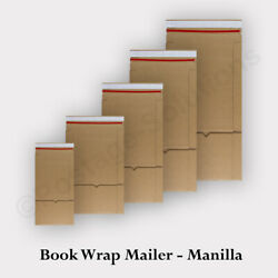 Brown Book Wrap Postal Cardboard E-flute Boxes For Cd, A5, B5, A4 Sizes Mailer