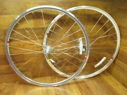 NEW POLISHED SILVER SHIMANO SRAM 8 9 10 11 SPEED 28H 700C CLINCHER WHEEL SET $319.99