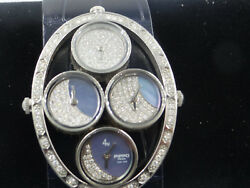 Pippo Diamond Moonphase Ladies Watchswiss Made In Italy Crocodile New Strap.