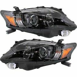 Headlight Set For 2010-2012 Lexus RX350 Driver and Passenger Side w bulb