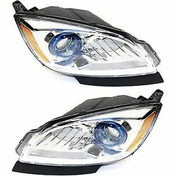 Headlight Set For 2012-2016 Buick Verano Driver and Passenger Side w bulb