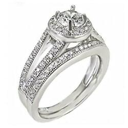Jamie 1.5ct Ice On Fire Cz 2 Pc Split Band Sterling Silver Wedding Ring Set
