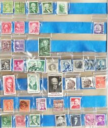 US Presidents and other American Historical Figures Stamp Lot. 38 Stamps Total