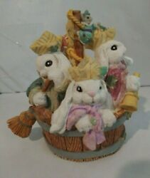 The Patchville Bunnies, Off To See The World, Nice Easter Decoration Or Gift