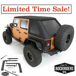 07-17 Jeep Wrangler Unlimited All In One Protek Soft Top And Hardware Kit 9087135k